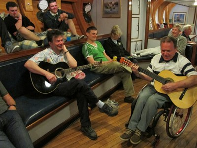 There's usually some great music sessions on board